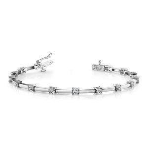 Jewelry - 3.5 Ct round prong setting diamond lady tennis bra